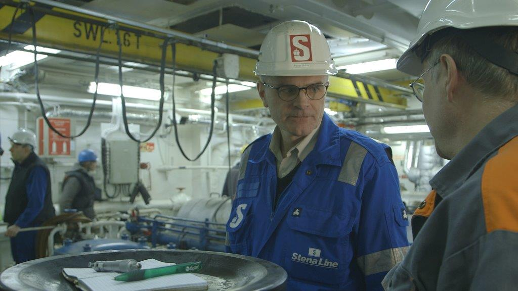 Peter Holm in the engine room